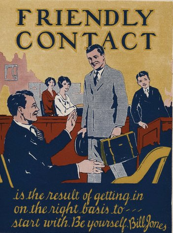 vintage motivational business poster friendly contact