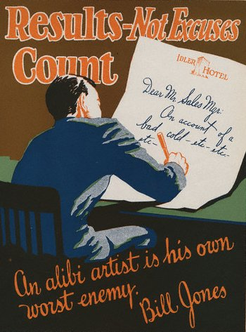 vintage motivational business poster alibi artist
