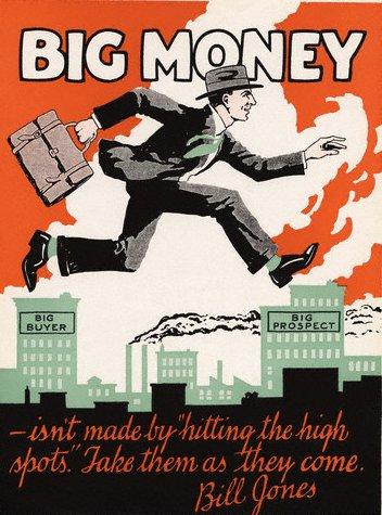 vintage motivational business poster big money