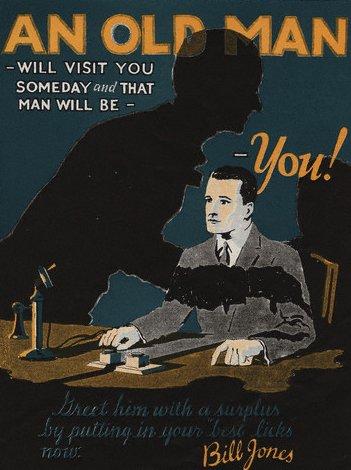 Vintage motivational business poster bill jones.