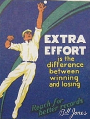 vintage motivational business poster handball extra effort