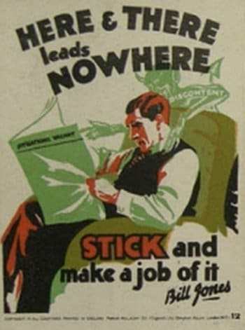 vintage motivational business poster stick to job