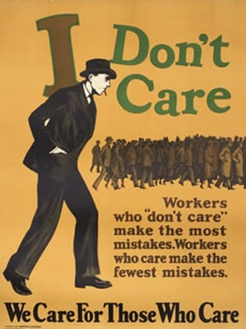 vintage motivational business poster workers who care