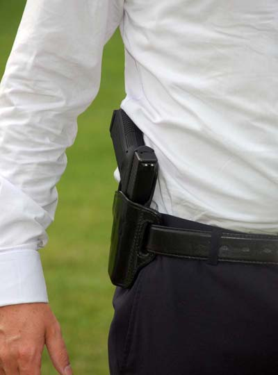 paddle holster hip carry outside the waistband handgun