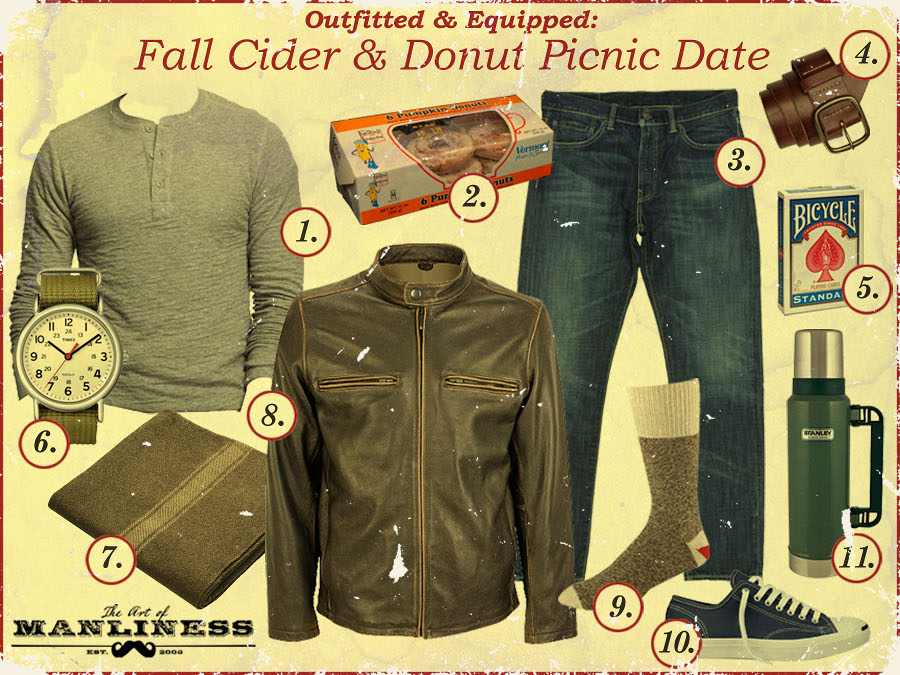 clothing gallery for fall picnic jeans jacket donuts
