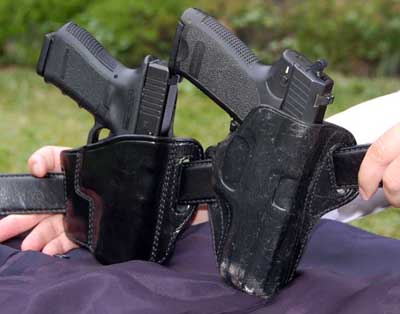 handguns in holster concealed carry style choices