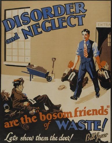vintage motivational business poster disorder neglect
