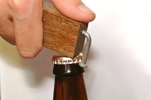 diy homemade wooden bottle opener
