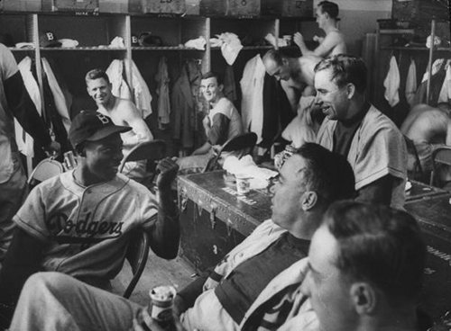 vintage baseball team brooklyn dodgers lockerroom