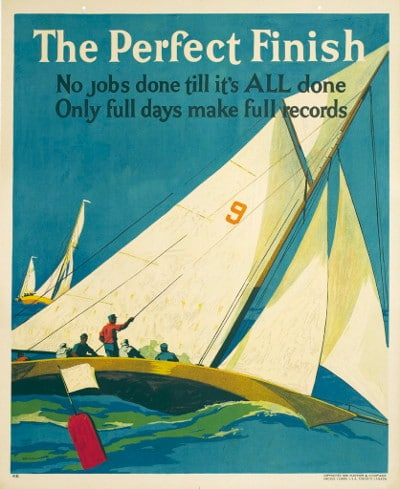 vintage motivational business poster perfect finish