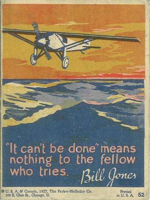 Vintage motivational business poster it can't be done.