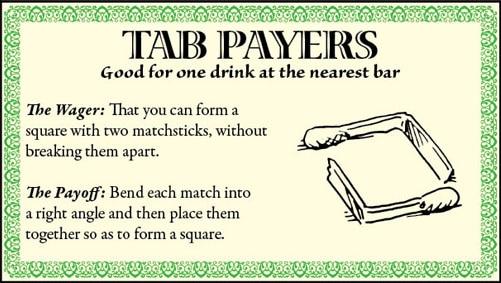 bar game trick square matchsticks illustration