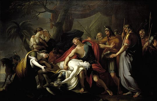 death of patroclus trojan war painting