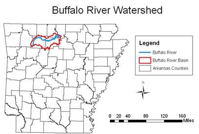 buffalo national river map canoe trip