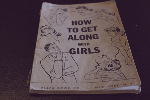 Vintage book titled as how to get along with girls.