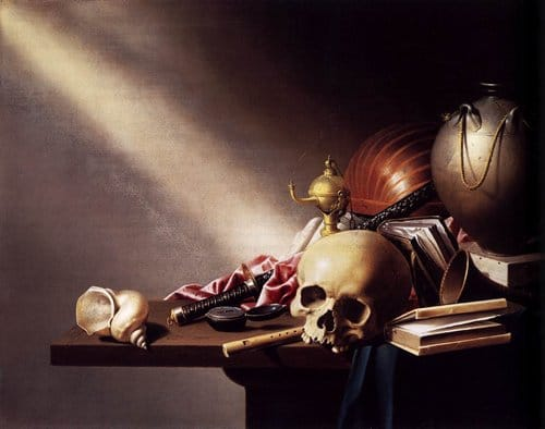 Still Life, An Allegory of the Vanities of Human Life by Harmen Steenwijck, 1640.