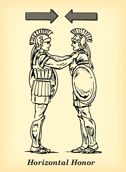horizontal honor roman soldiers brothers peers illustration