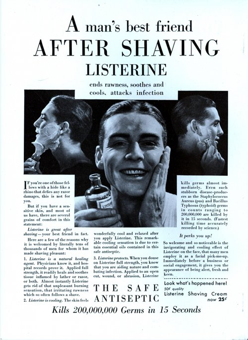 vintage listerine ad advertisement after shave