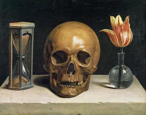 Still life with a skull by philippe de champaigne, 1671.