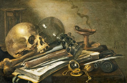 Vanitas Quiet Life by Pieter Claesz, early 17th century.