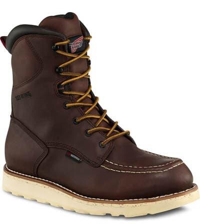 Work boots browan white soal.