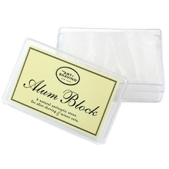 art of shaving alum block treating shaving cuts