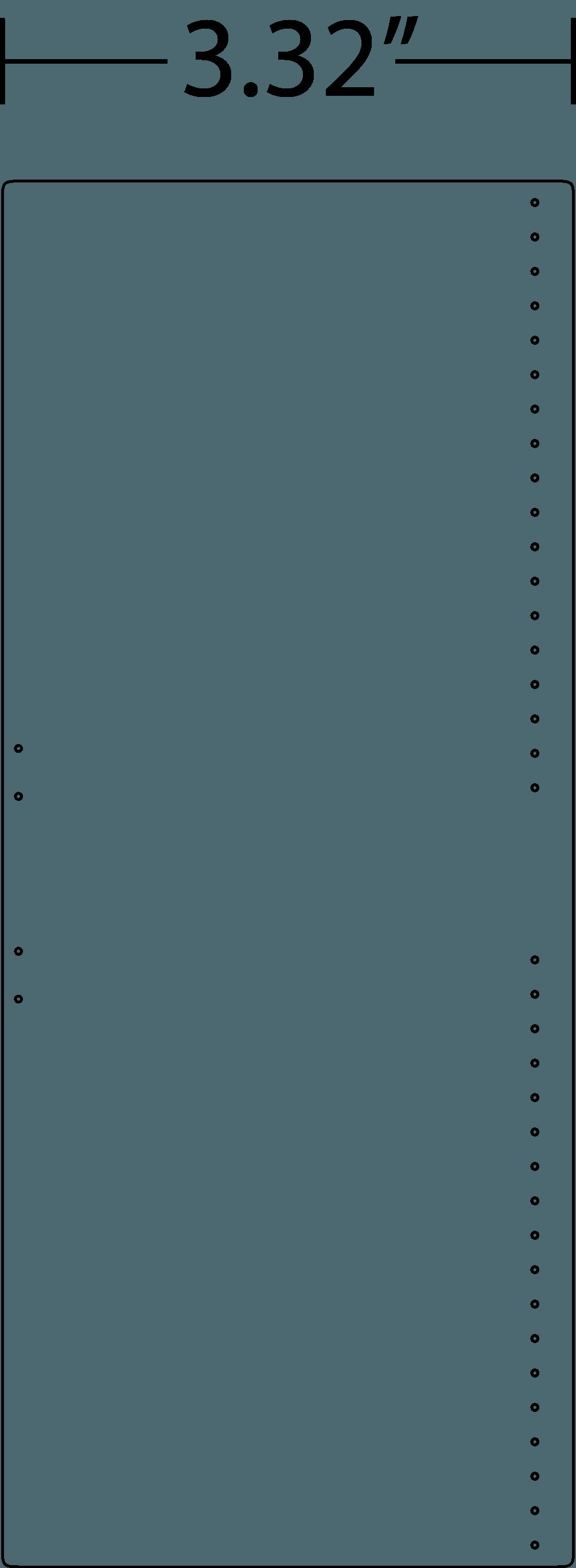 Blueprint image of frontside of wallet.