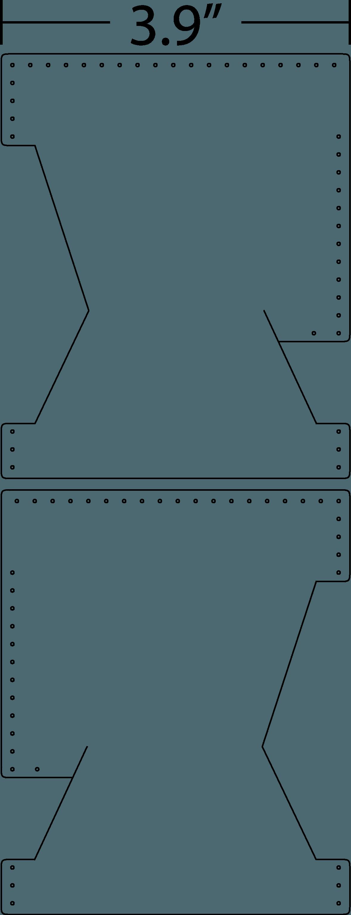 Blueprint images of wallet for front pocket.