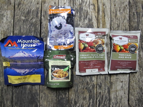 Dehydrated meals for emergencies.