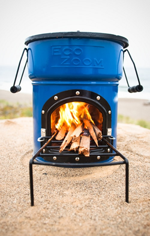 Eco zoom stove for camping and emergencies.