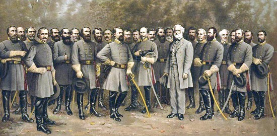 Generals of the confederacy civil war painting.