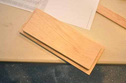 diy wooden cribbage board wood laid out