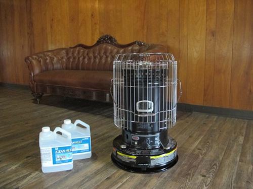 Kerosene heater and kerosene jugs for emergencies.