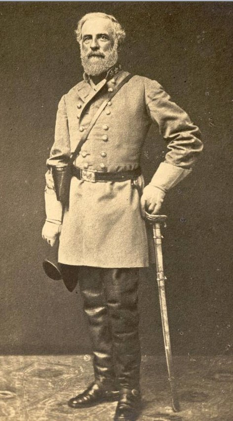 General Robert Lee Confederate portrait in full uniform.