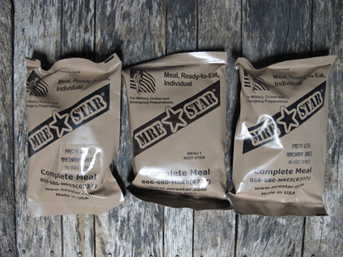 Mre star dehydrated meals for emergencies.