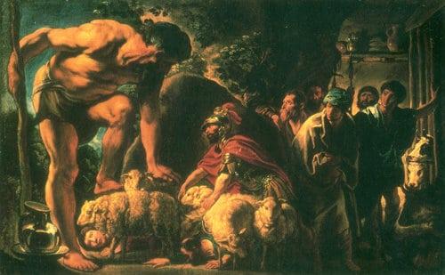 cyclops jordeans homer's odyssey painting