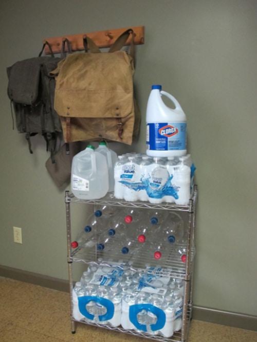 Water storage for emergencies.