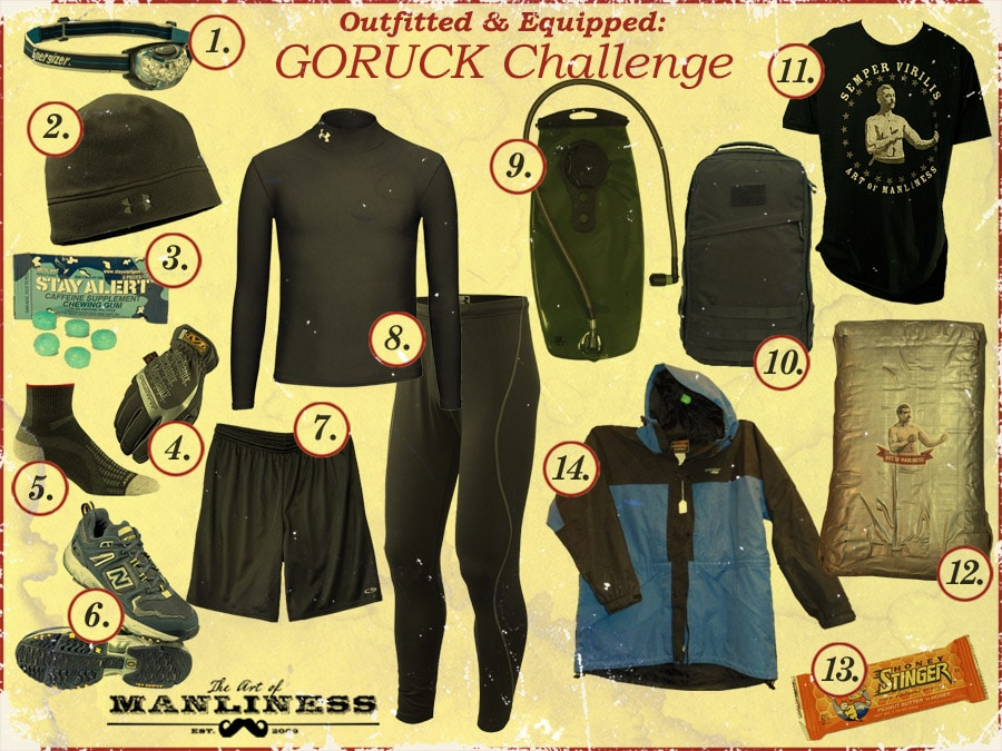 what to wear for goruck challenge obstacle course race
