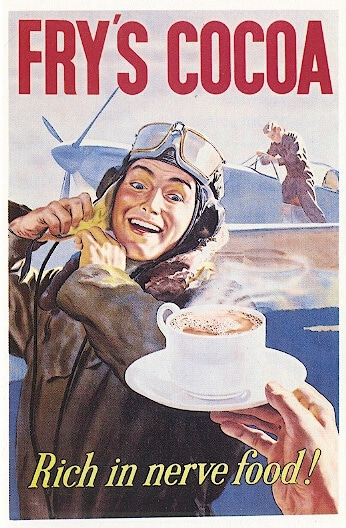 vintage fry's cocoa hot chocolate ad advertisement