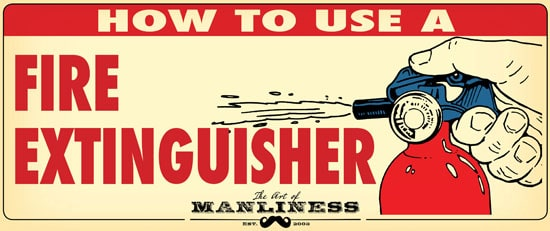 how to use fire extinguisher illustration