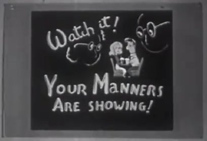 vintage instructional film your manners are showing
