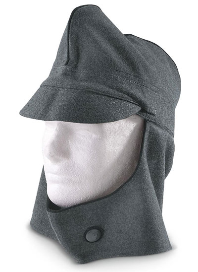 swiss garrison winter hat cap peaked front