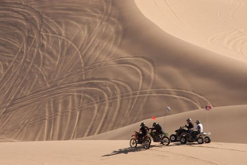 atvs and dirt bikes on Imperial Sand Dunes (Glamis, California)