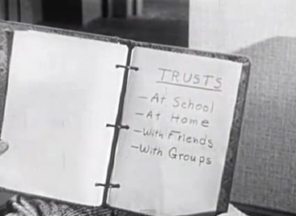 vintage instructional films trusts at school home friends