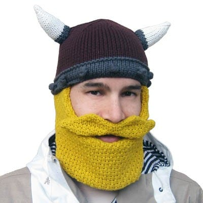 viking beard knit hat winter cap