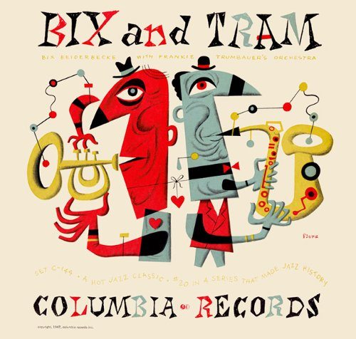 Jim Flora painting bix and tram columbia records album