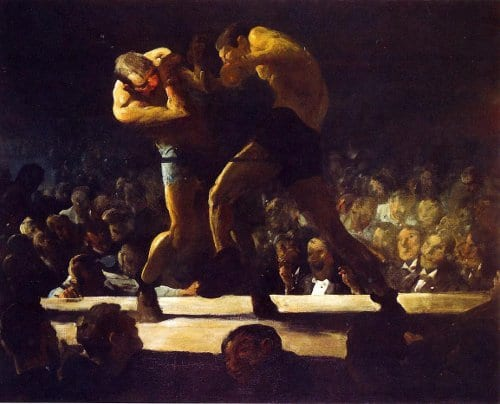 george bellows club night boxing painting