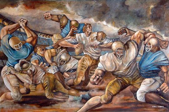 Ernie Barnes sunday's heroes painting football art