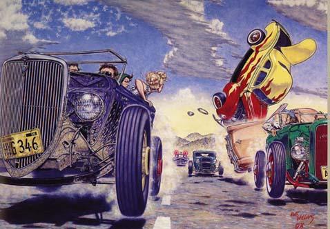 Robert Williams hot rod painting automobile art