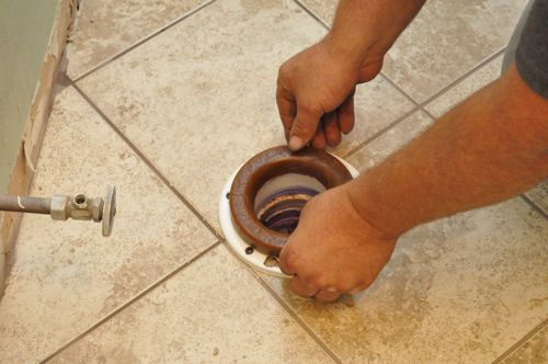 how to install a new toilet placing wax ring